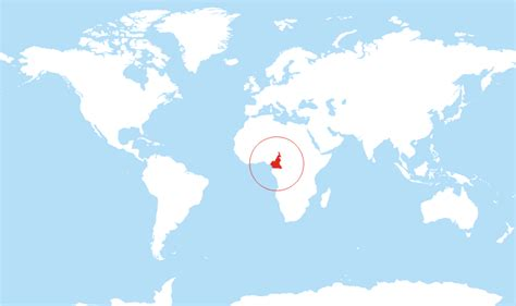 cameroon in world map where is cameroon located on the world map