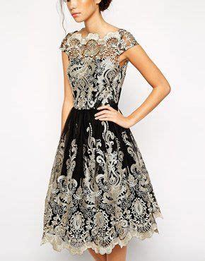 Promo Midi Dress Sandria Dress Wedges enlarge chi chi premium metallic lace midi prom
