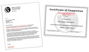 Certification Letter Of Completion Cwea