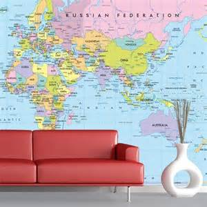Wall Mural Maps wall murals world map 1