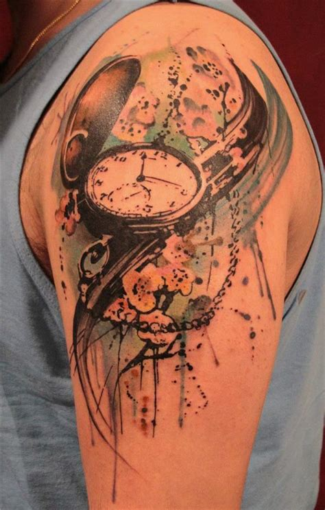 pocket watch tattoos the gallery for gt broken clock meaning