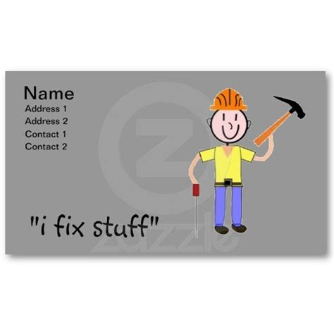 card stuff 17 best images about handyman cards on colors