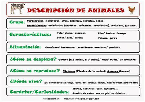 descripcion de imagenes en ingles ejemplos lapicero m 193 gico descripci 243 n de animales