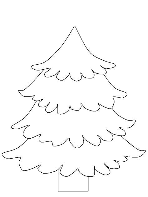 Christmas Tree Template Az Coloring Pages Tree Cut Out Coloring Pages