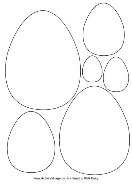 free printable easter templates easter egg template