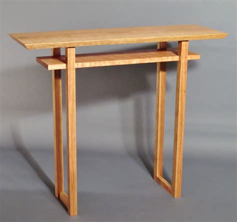 Table Handmade - narrow side table handmade custom wood furniture vanity