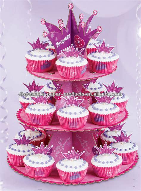 Cupcake Stand Rak Cupcake 3 Tier Edisi Birthday T45 L30 polka dots 1st birthday pink cupcake stand accessory birthday 3 tier