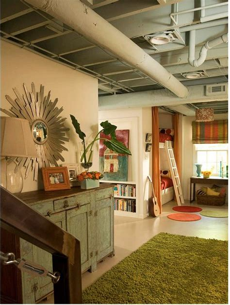 basement makeover w o adding a ceiling just use paint