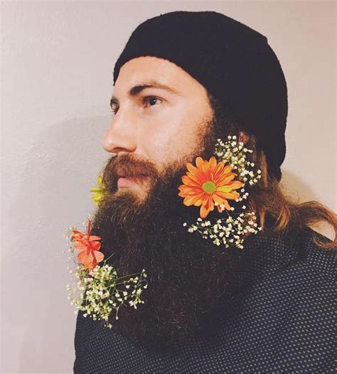 guys are decorating their beards with flowers to celebrate guys are decorating their beards with flowers to celebrate