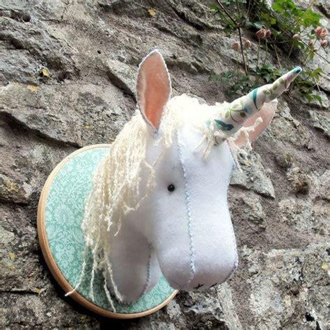 pattern unicorn head faux taxidermy felt unicorn head pattern pdf instant