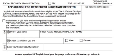 Nevada Collecting Social Security On Application Printable Application For Social Security Retirement Benefits