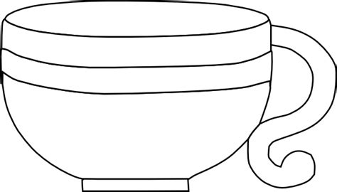 Cup Clipart Black And White black and white cup clip at clker vector clip