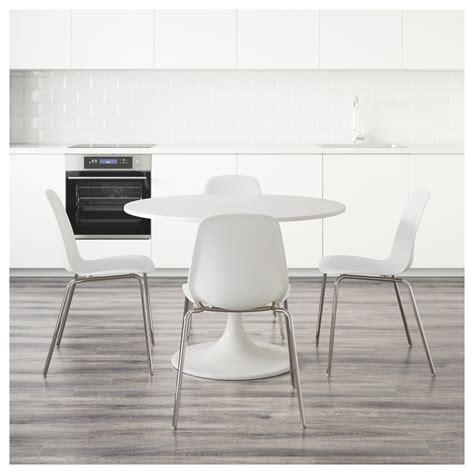 Docksta Dining Table Docksta Leifarne Table And 4 Chairs White White 105 Cm Ikea
