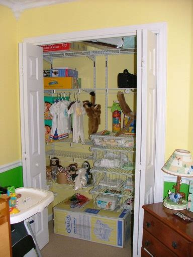nursery closet closets organized spaces