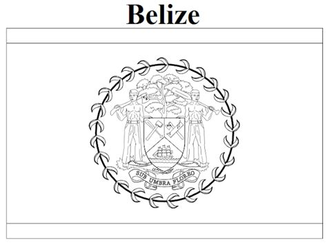 coloring page of map of belize geography blog belize flag coloring page