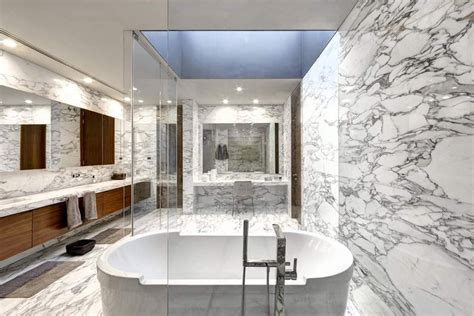 badezimmer marmorcountertops arabescato marble bathroom stoneadd photo