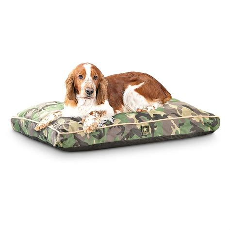 camouflage dog bed new u s army camo pet bed woodland 211018 kennels