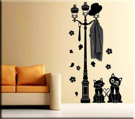 pomelli appendiabiti design adesivo da muro appendiabiti gatti
