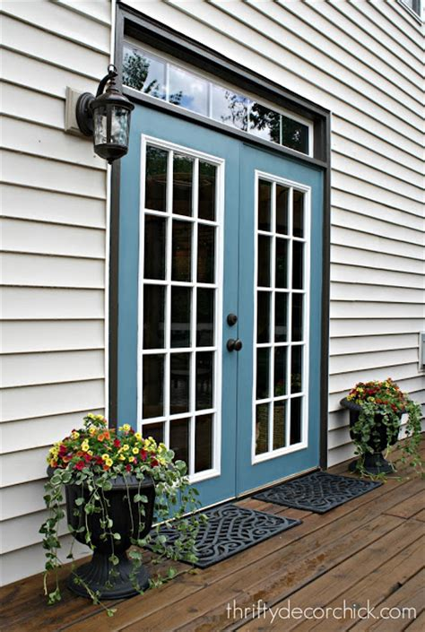 Painting Patio Doors by Our Productive And Summer From Thrifty Decor