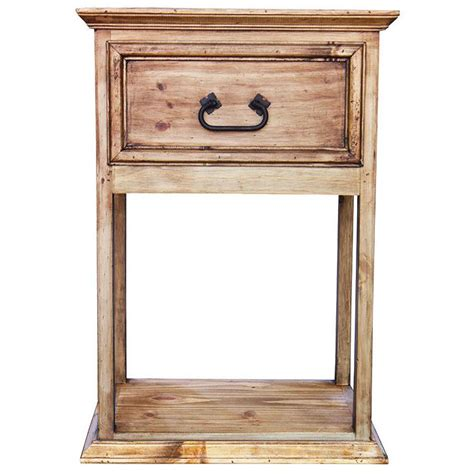 Rustic Pine Nightstand Rustic Pine Collection Santa Fe Nightstand Bur71