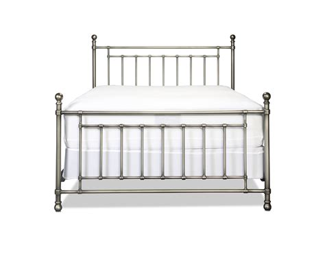 metal queen bed bedford queen metal bed antique pewter levin furniture