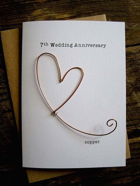 7th anniversary gift for 17 best ideas about wedding anniversary cards on