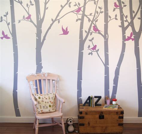 forest wall stickers birch tree forest wall stickers by parkins interiors notonthehighstreet