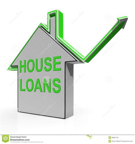 loans house house loans home means borrowing and mortgage stock photography image 38091162