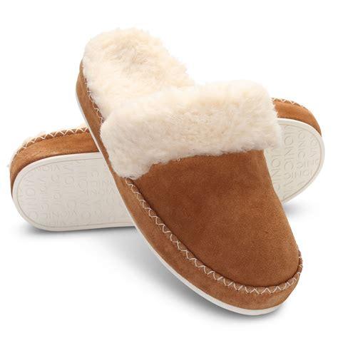 slippers for plantar fasciitis the plantar fasciitis suede scuff slippers hammacher