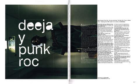 Minimalistic Design print mu magazine spread