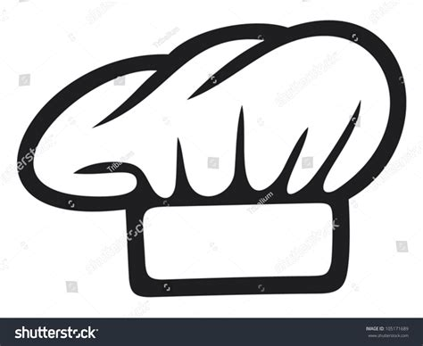 cook hat white chef hat stock vector 105171689 shutterstock