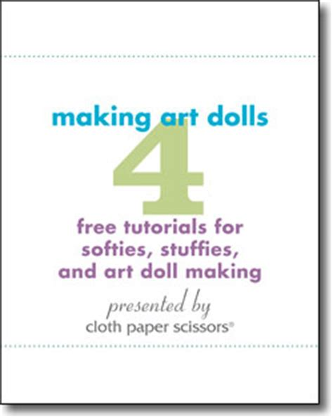 pattern making ebooks 4 free tutorials for softies stuffies and art doll making