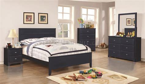 400781 ashton kids bedroom 4pc set in navy by coaster w