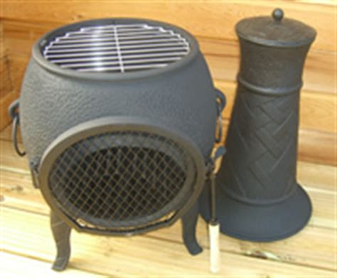 chiminea grill plate buy the basketweave cast iron chiminea from the