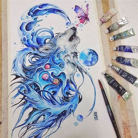 Hn110 Lukisan Lucky 8 Horses 1000 ideas about watercolor dreamcatcher on