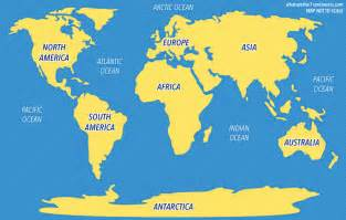 map of seven continents and oceans free printable maps