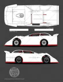 Dirt Late Model Graphics Template generation 1 dirt late model template school of racing