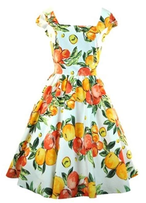 lemon pattern clothes orange lemon fruit print dress citrus pinterest