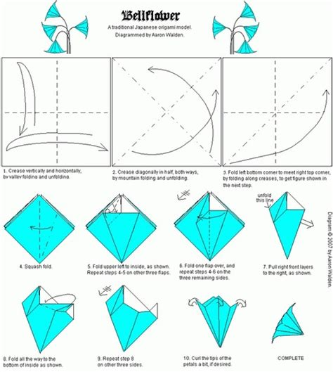 Paper Folding Guide - origami bellflower folding origami