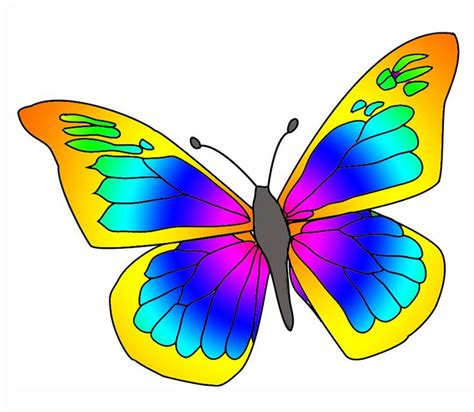 butterfly clipart painted butterfly wings clipart outline clipart best