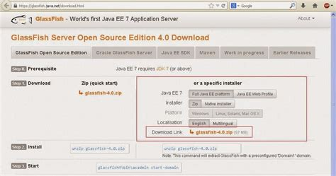 tutorial oracle application server java web development how to install oracle glassfish