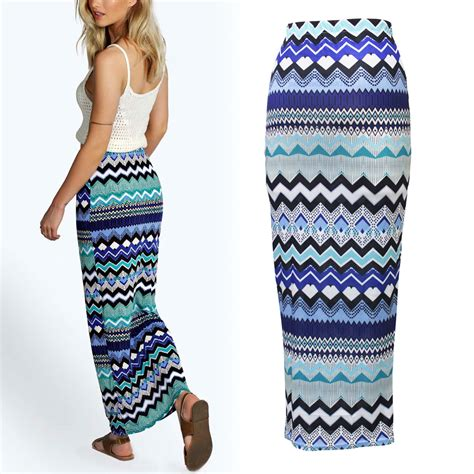 Stripe Casual Maxi 8435 74 new summer high waist fashion stripe floral