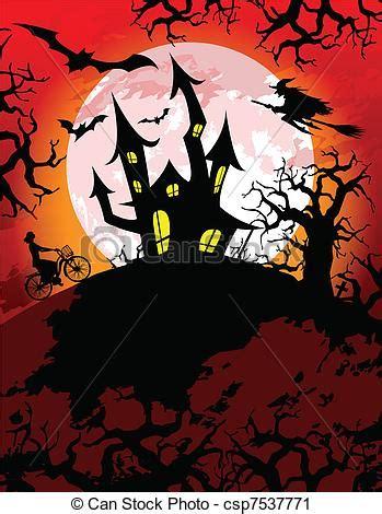 halloween themes line vector clip art of spooky halloween theme halloween