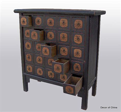 black apothecary 25 drawer chest herb cabinet ebay