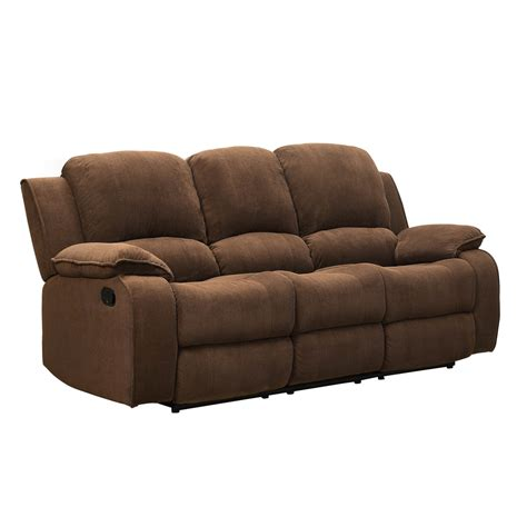 Brown Reclining Sofa Homelegance Barone Reclining Sofa In Brown Polyester Beyond Stores