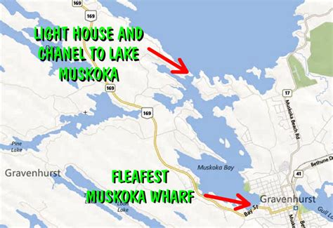 boat launch gravenhurst location maps and directions fleafest 2013