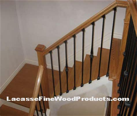 Black Staircase Banister Oak Recover Stair Treads Black Metal Railings Ottawa