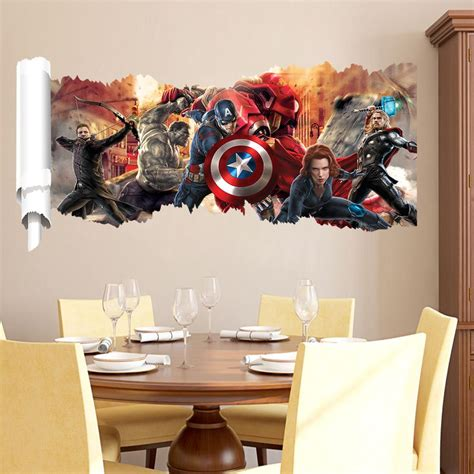 marvel s the wall sticker decals for room