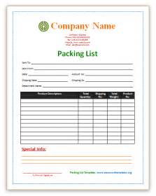 Packing List Template Pics Photos Packing List Template Gif Courtesy