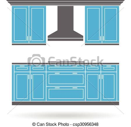 Kitchen Cabinets Logo by Eps Vector Of Modern Kitchen Cabinets With Cooktop Color